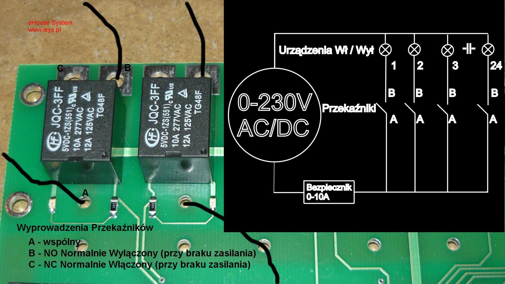 ehouse automatismes du bâtiment - Connexion PC pour les relais électriques