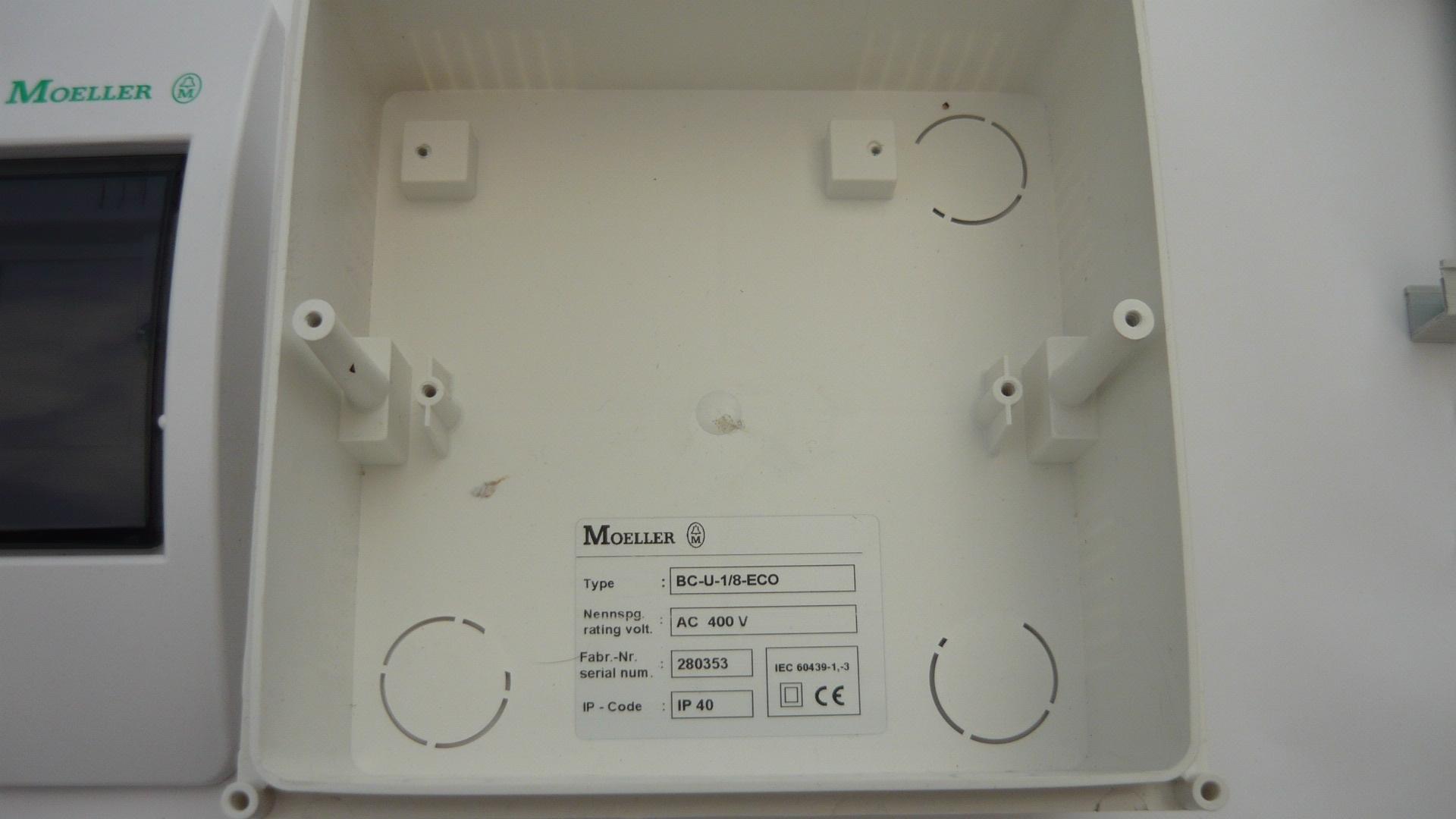 """namų automatizavimo , domotikoje eHouse - """"Moller dėžutę Pavyzdys BC Saugumo įrengimas - U - 1 / 8 - ECO"""