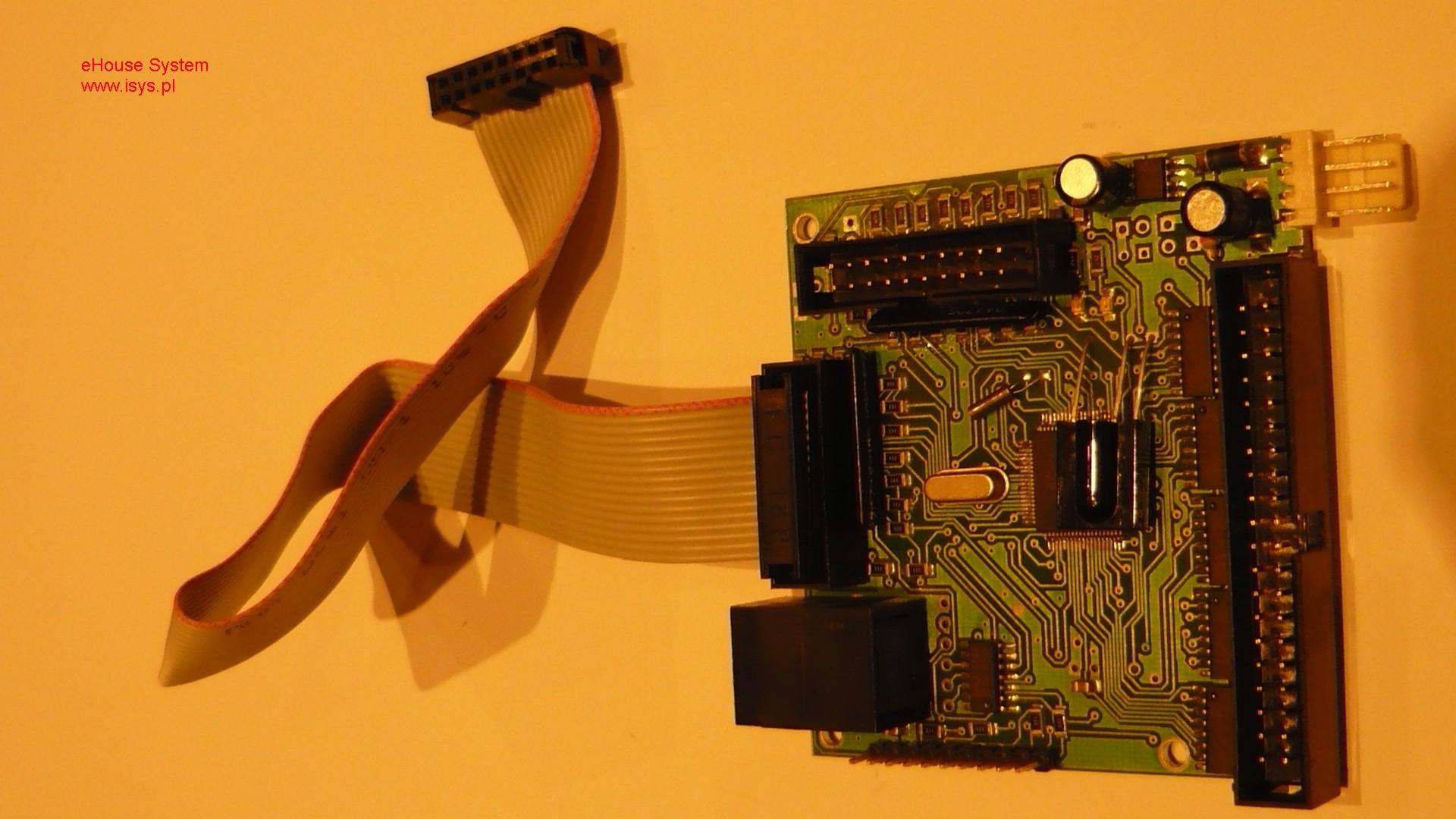 domotique , domotique ehouse - connexion des capteurs numériques, des commutateurs et ruban plat 16 broches