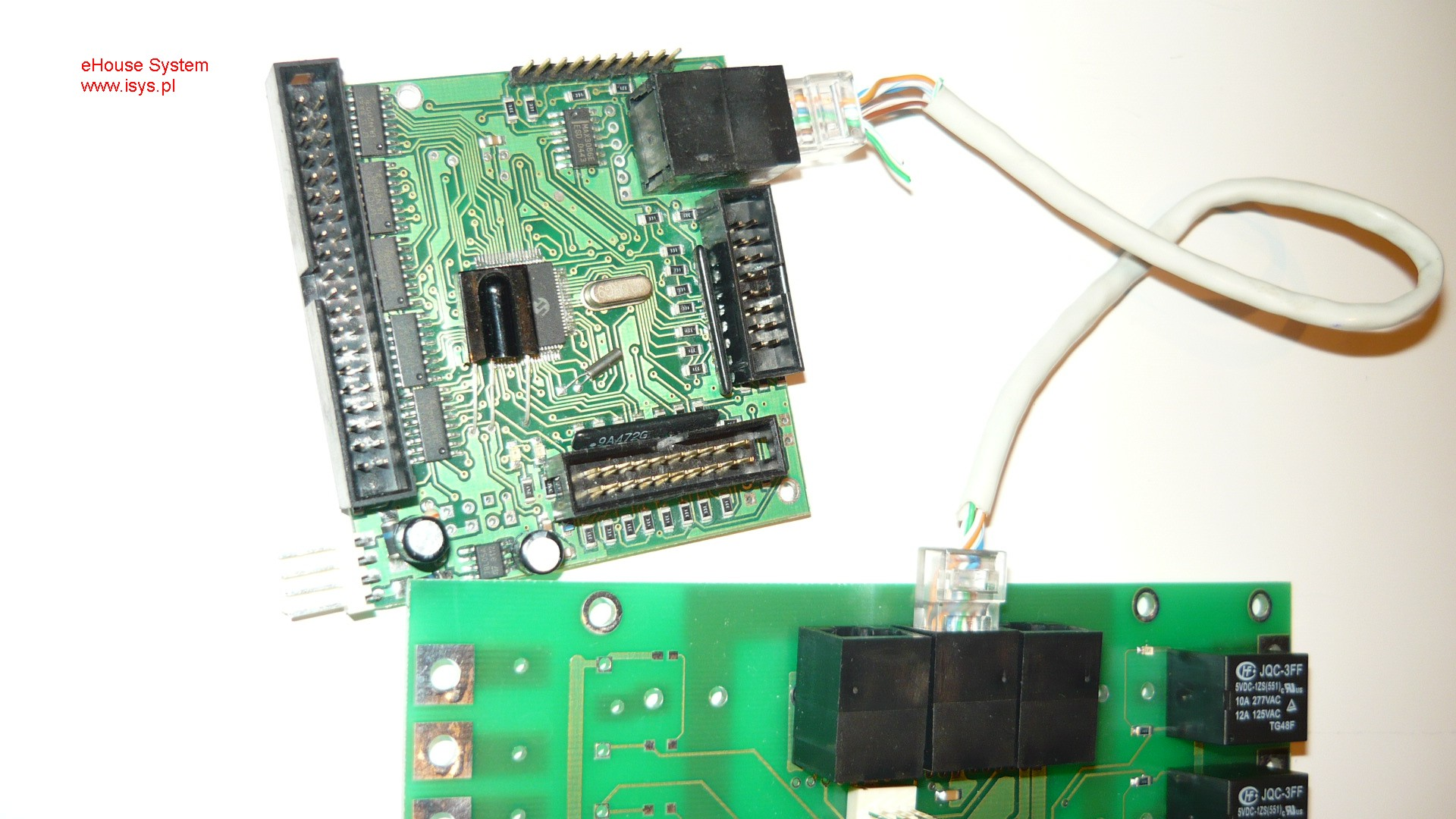 ehouse automatismes du bâtiment - Les données de connexion de bus entre les contrôleurs et les détails du module relais
