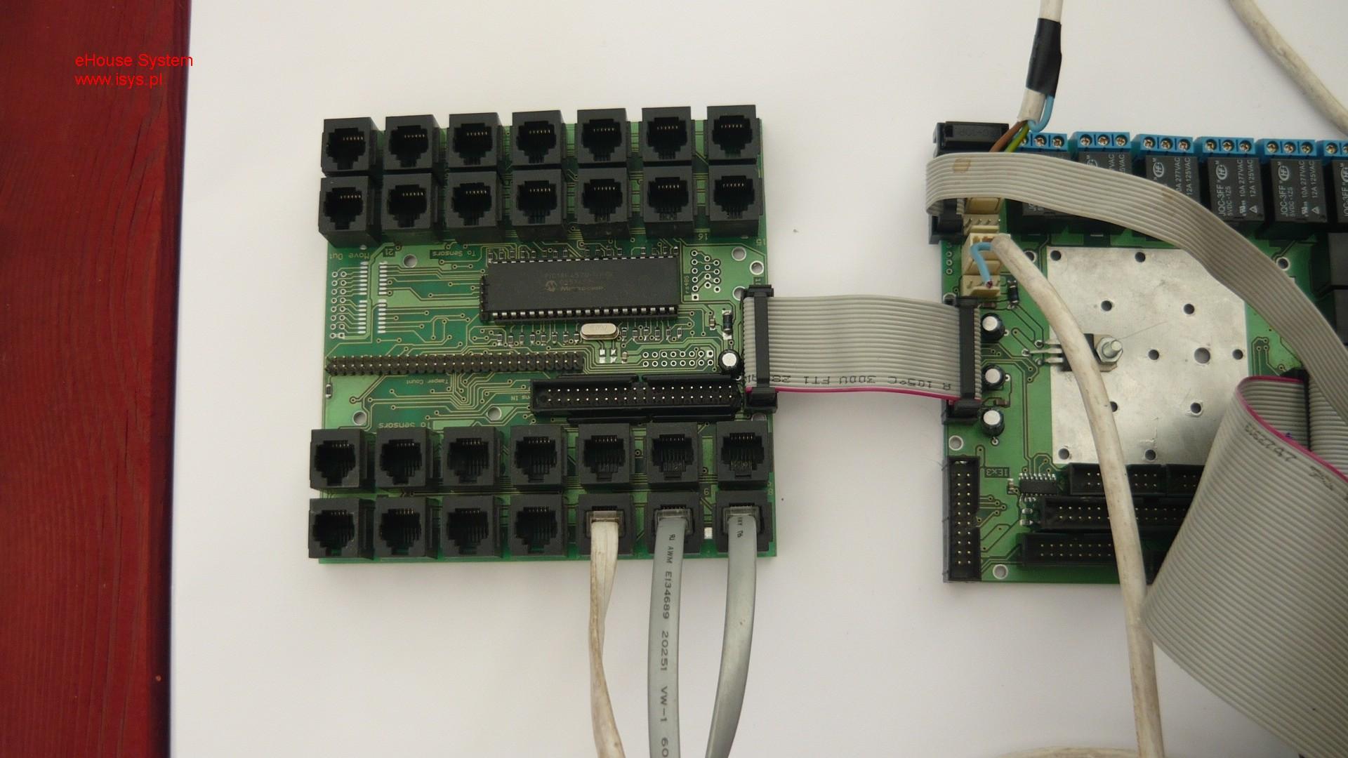 pastato automatizavimo eHouse - InputExtendera prijungtas prie Expander