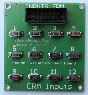 Moduł demonstracyjno, evaluacyjno, testowy dla sterowników Inteligentnego Domu eHouse (wejścia)
