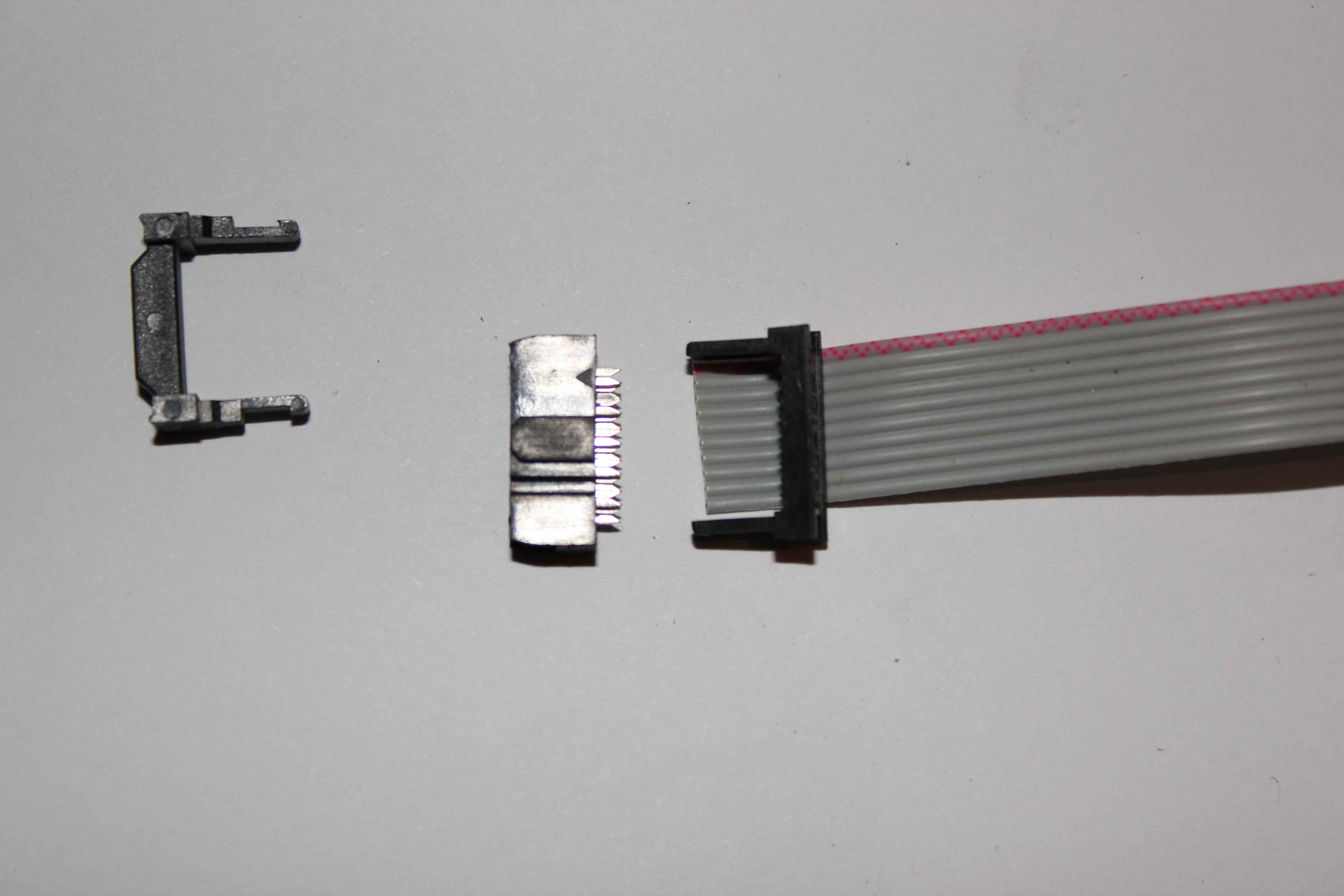 The tape flat 10 pin IDC