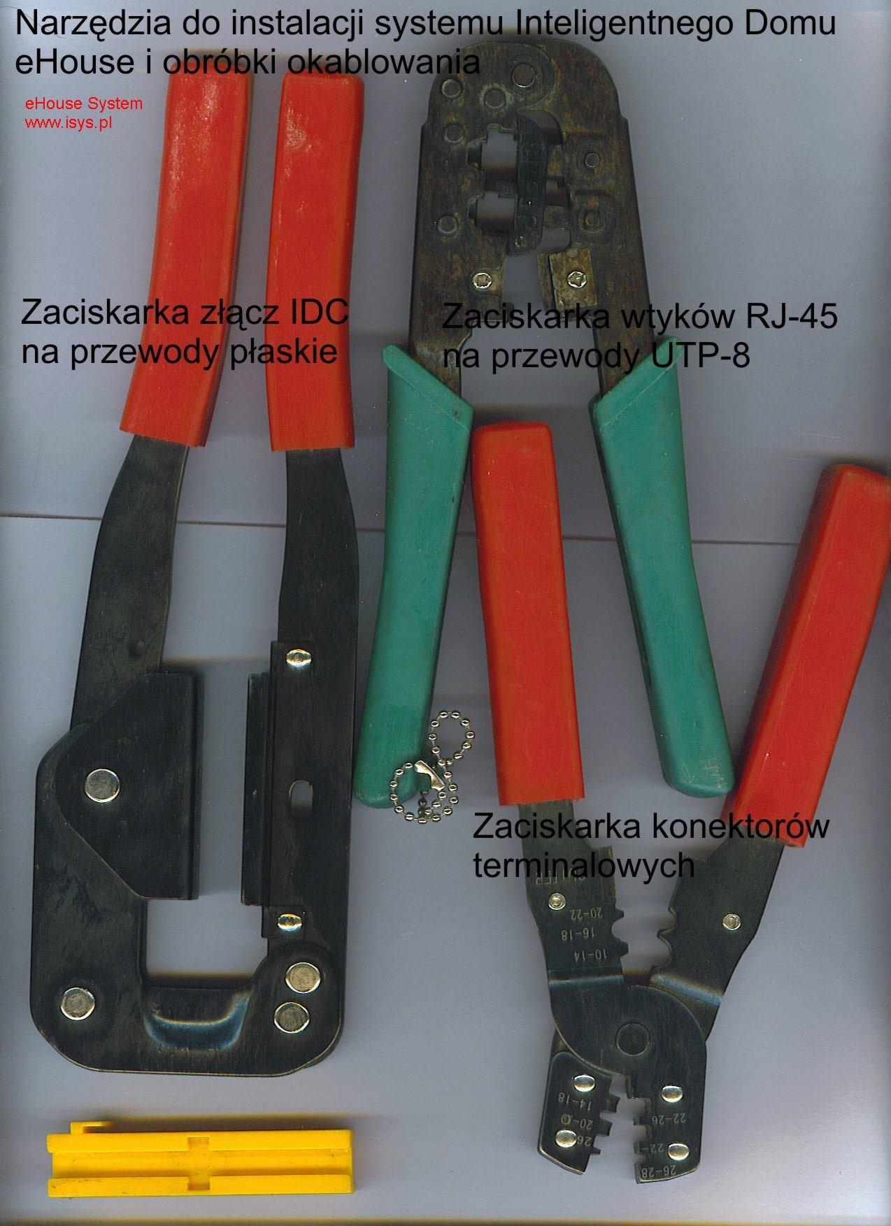 Інструменти для полегшення установки підключення (роз'єми опресовування системи eHouse) .