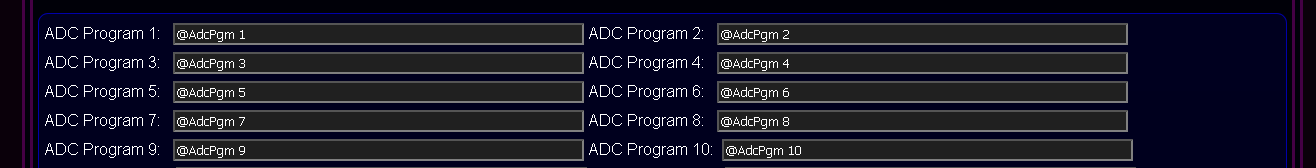Customized eHouse.PRO system configuration - ADC Names