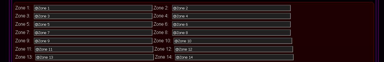 Customized eHouse.PRO system configuration - Zones Names