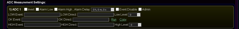 Kastomizowany ekran konfiguracji i inicjalizacji systemu @Light, eHouse WiFi - Konfiguracja wejść pomiarowych (ADC)