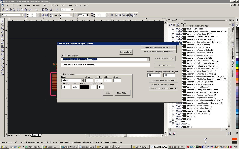 tworzenie wizualizacji dla eHouse w CorelDrv