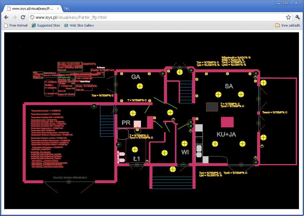 automatyka domu eHouse Sterowanie domem z przegladarki WWW (Mapy HTML)