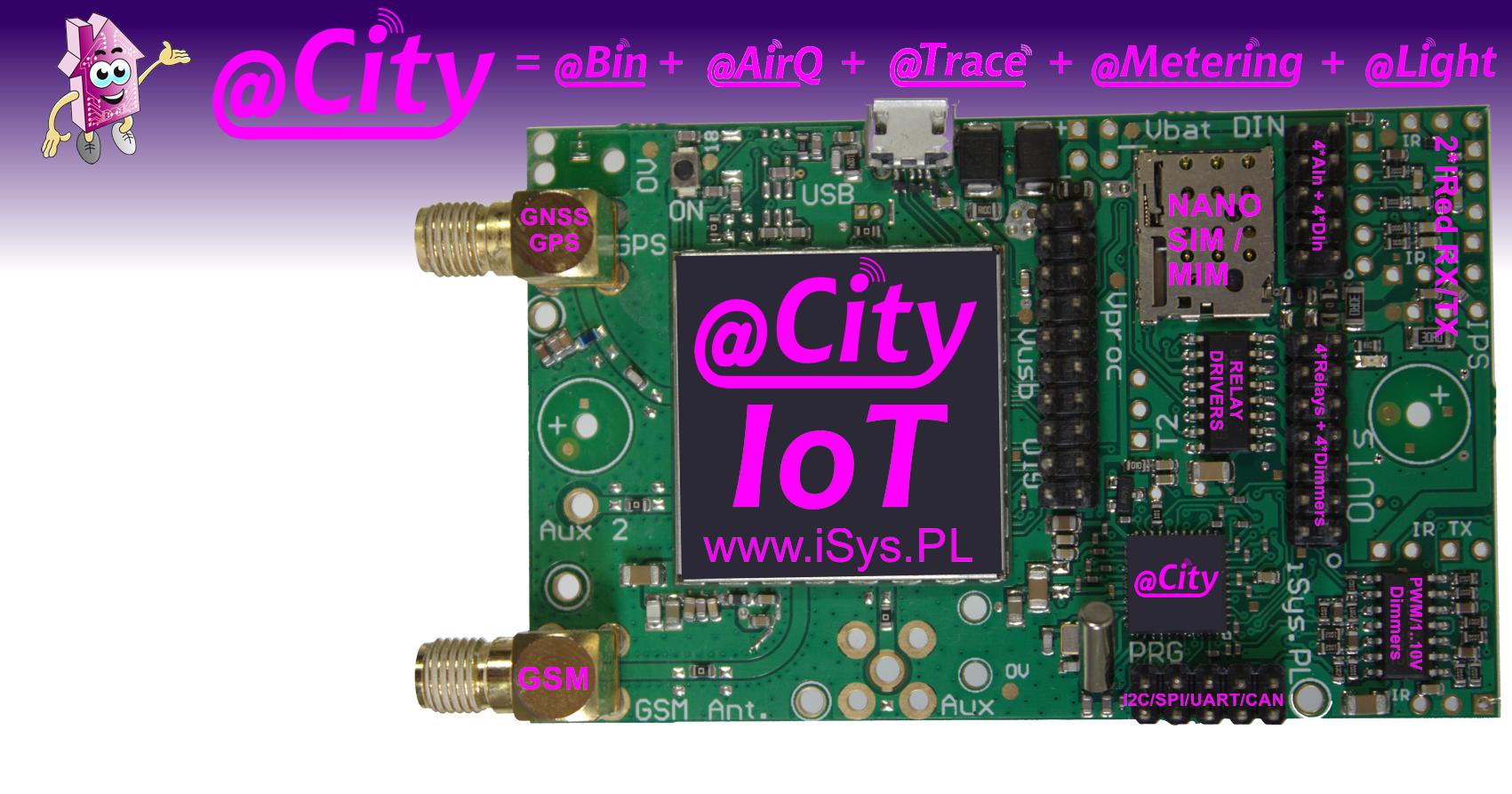 IIoT/IoT GSM/2G/3G/4G/CATM1/NBIoT + GPS/GNSS - Sterownik Smart City/Light/Smart Metering