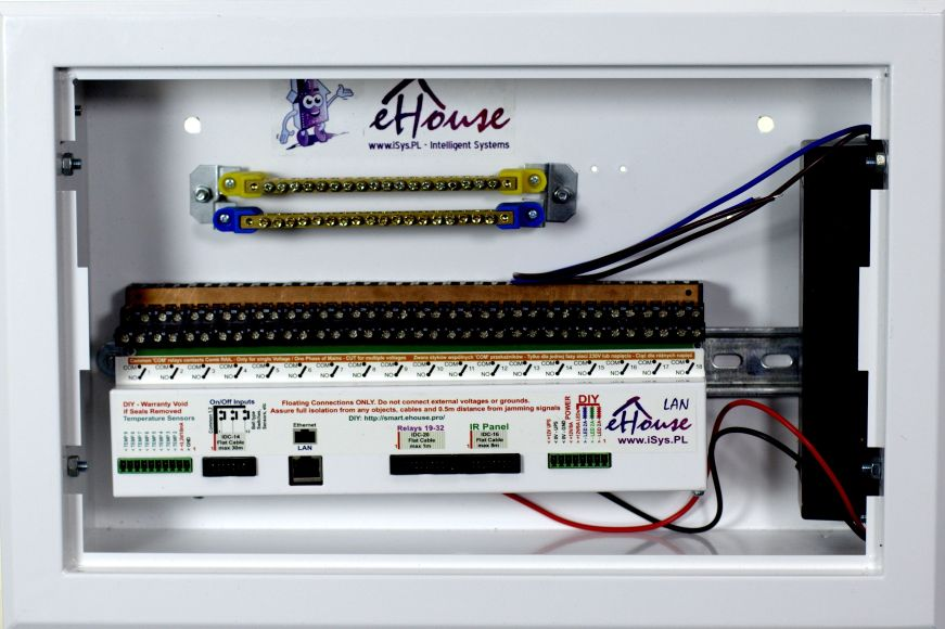 Intelligent House eHouse assembled switchboard for self-assembly