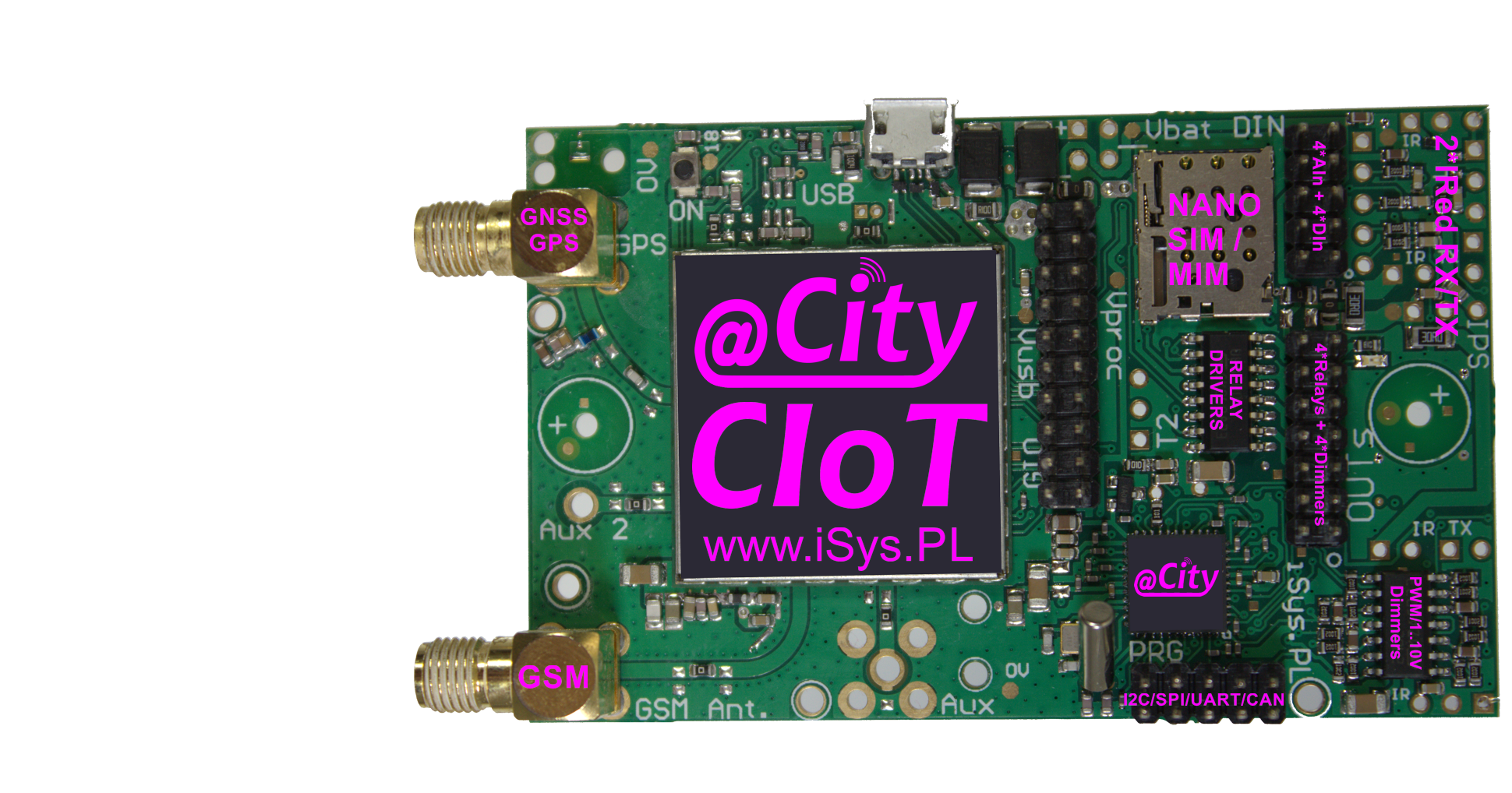 eCity Universal controller with GSM/NB1/LTE-M1 and GPS/GNSS interfaces